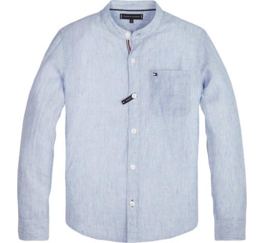 KB04758Essential cotton linen shirt l/s