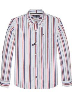 Tommy Hilfiger KB04767RWB vertical stripe shirt l/s