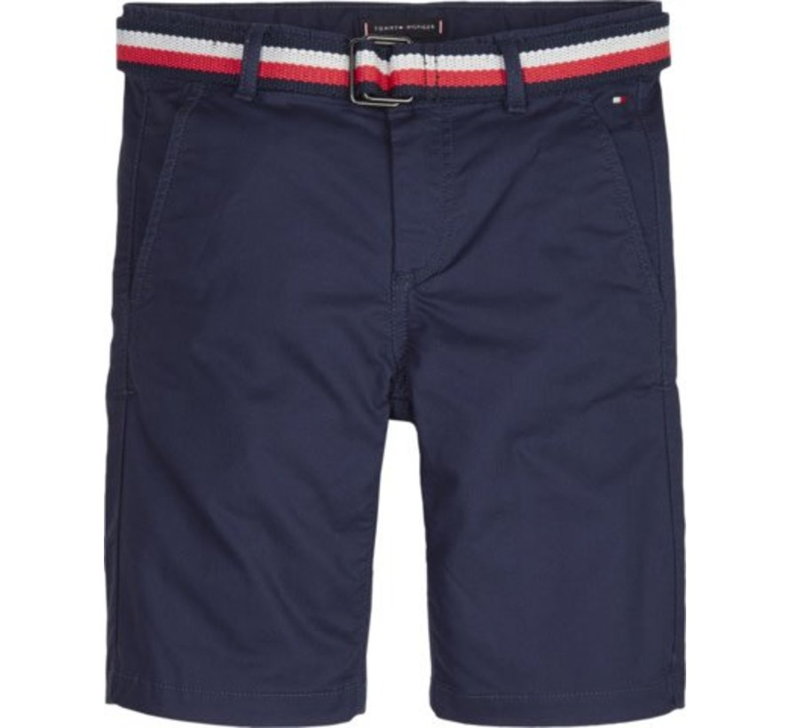 KB04780Essential dobby belted chino