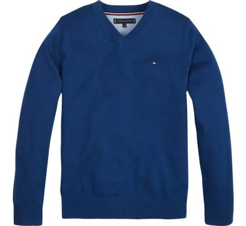 Tommy Hilfiger KB04789Essential organic v-neck sweater