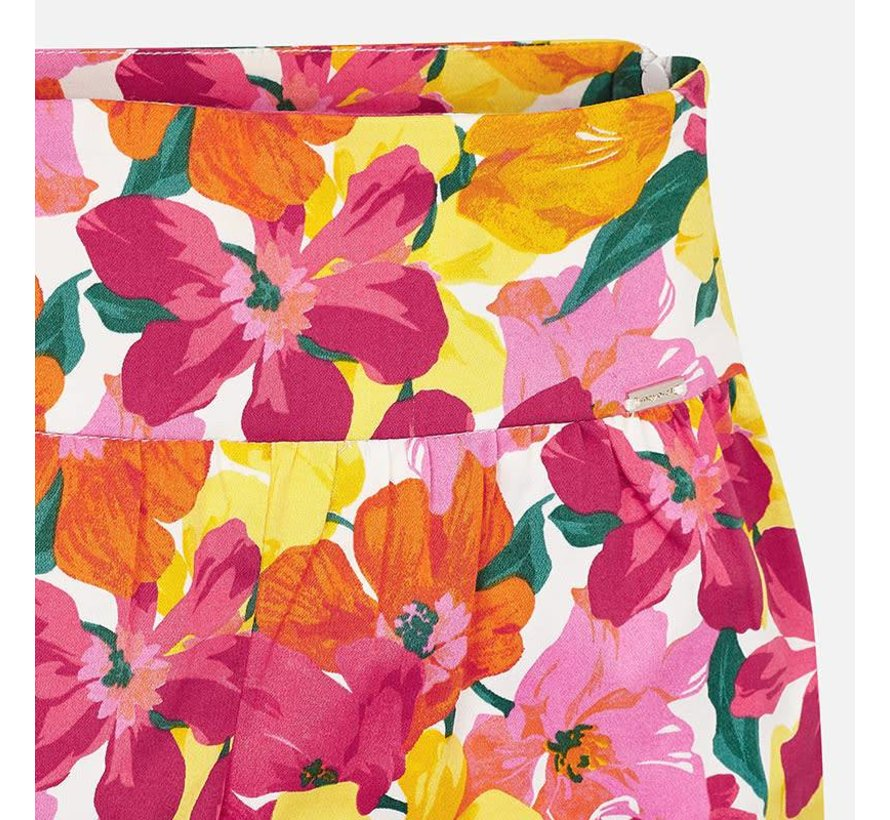 3203Flower printed shorts