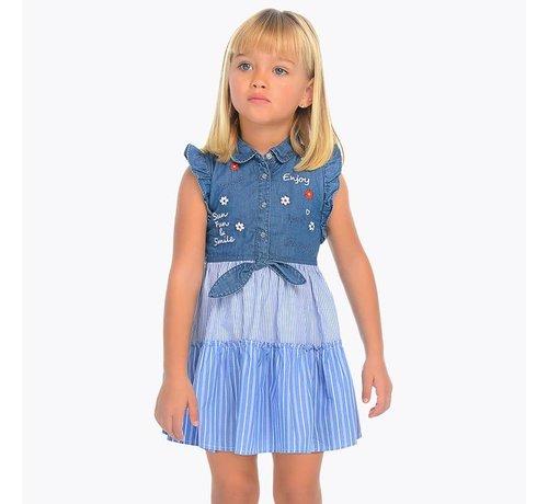 Mayoral 3937Denim dress