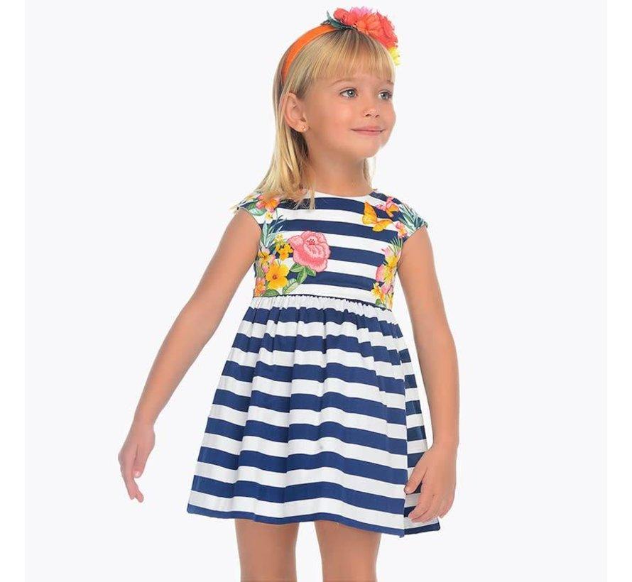 3942Striped dress