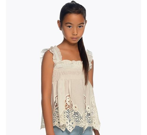 Mayoral 6106Embroidered loose shirt