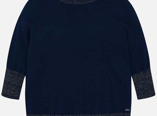 Mayoral 6301Patent lurex sweater