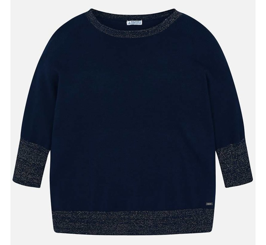 6301Patent lurex sweater