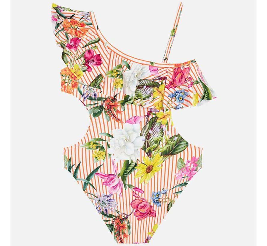 6712Printed swimsuit