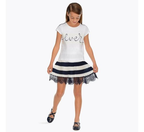 Mayoral 6906Pleated striped skirt