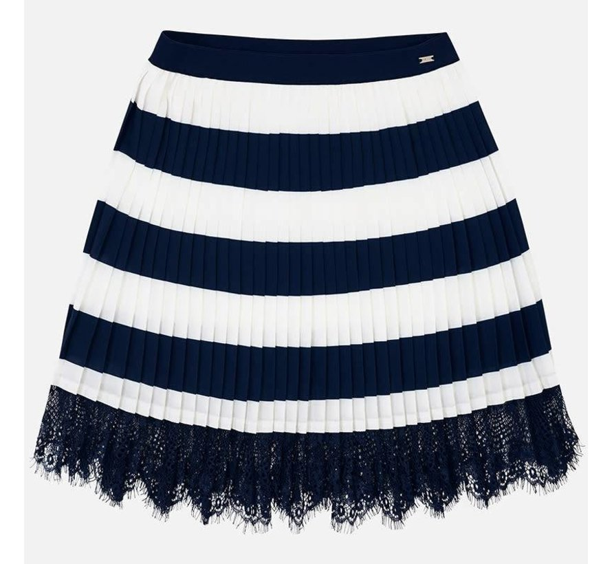 6906Pleated striped skirt