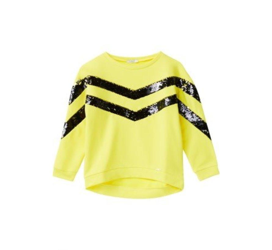 G19006F0764Felpa maxi geometric sweater