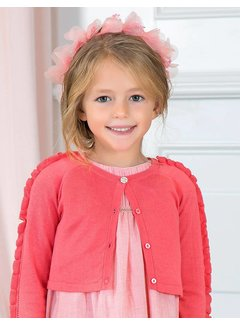 Abel & Lula 5.304Knitted cardigan with flounces