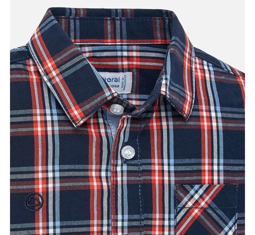 2112L/s poplin check shirt
