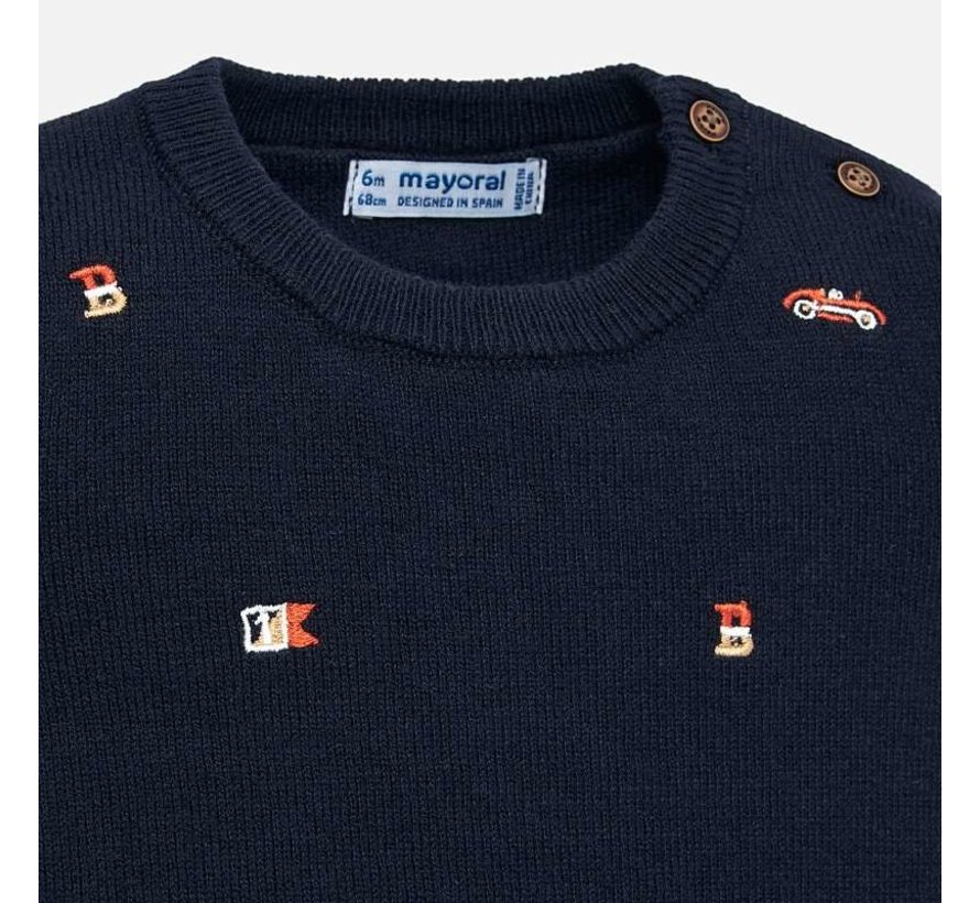 2319Embroidered sweater
