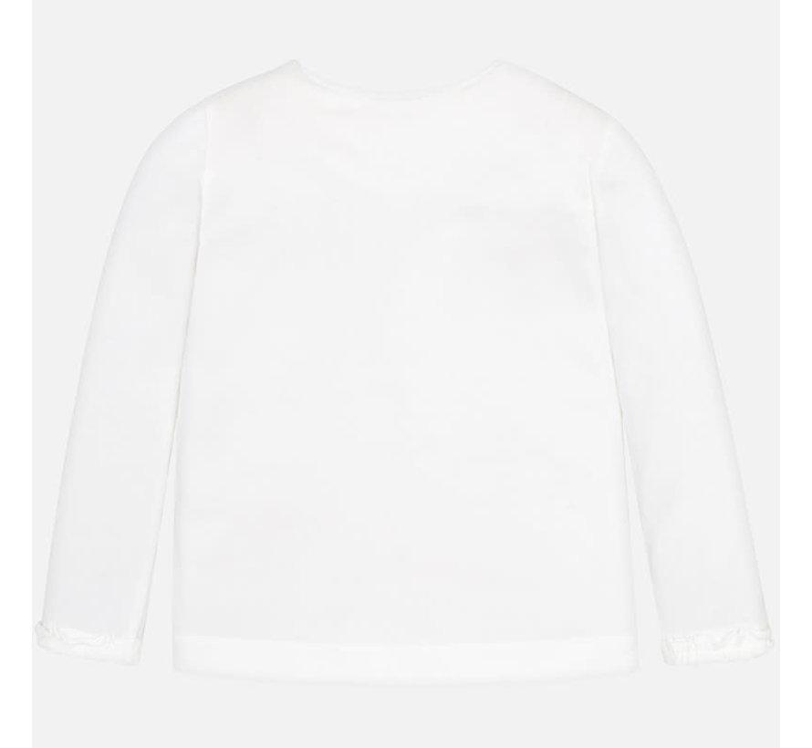 4009L/s ruffled t-shirt