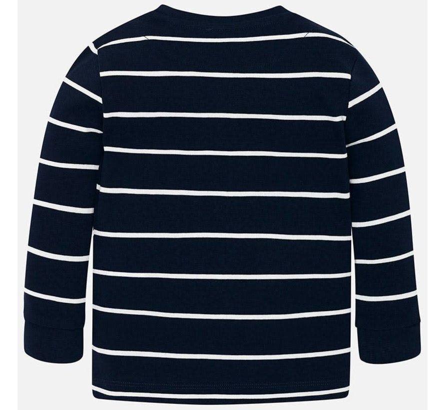 4018L/s stripes t-shirt