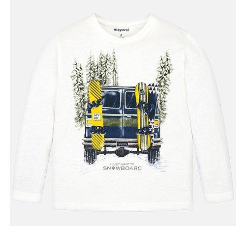Mayoral 4026L/s shirt cars