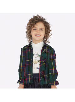 Mayoral 4106Plaid blouse