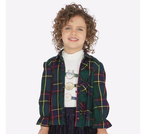 Mayoral 4106Plaid blouse