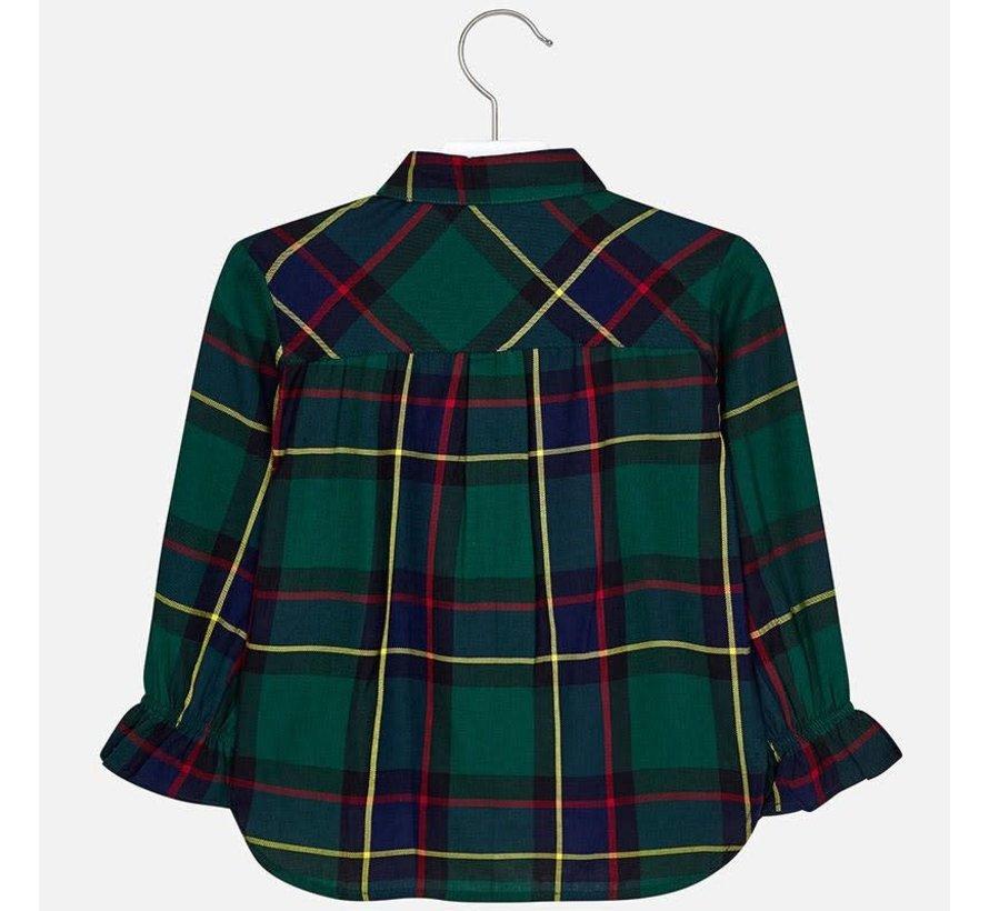 4106Plaid blouse