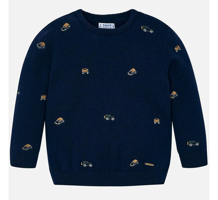 4316Embroided sweater