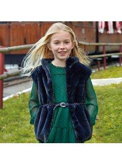 Mayoral 7308Fur vest with belt