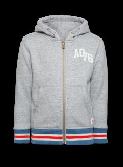 Ao76 219-2206-15hoodie full zip sweater striped rib