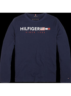 Tommy hilfiger pre KB04997 flags graphic tee l/s