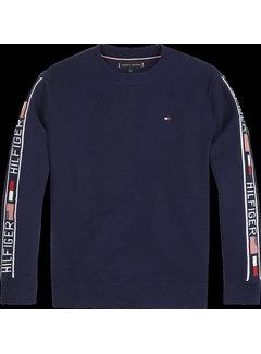 Tommy hilfiger pre KB05196 intarsia logo rib sweater