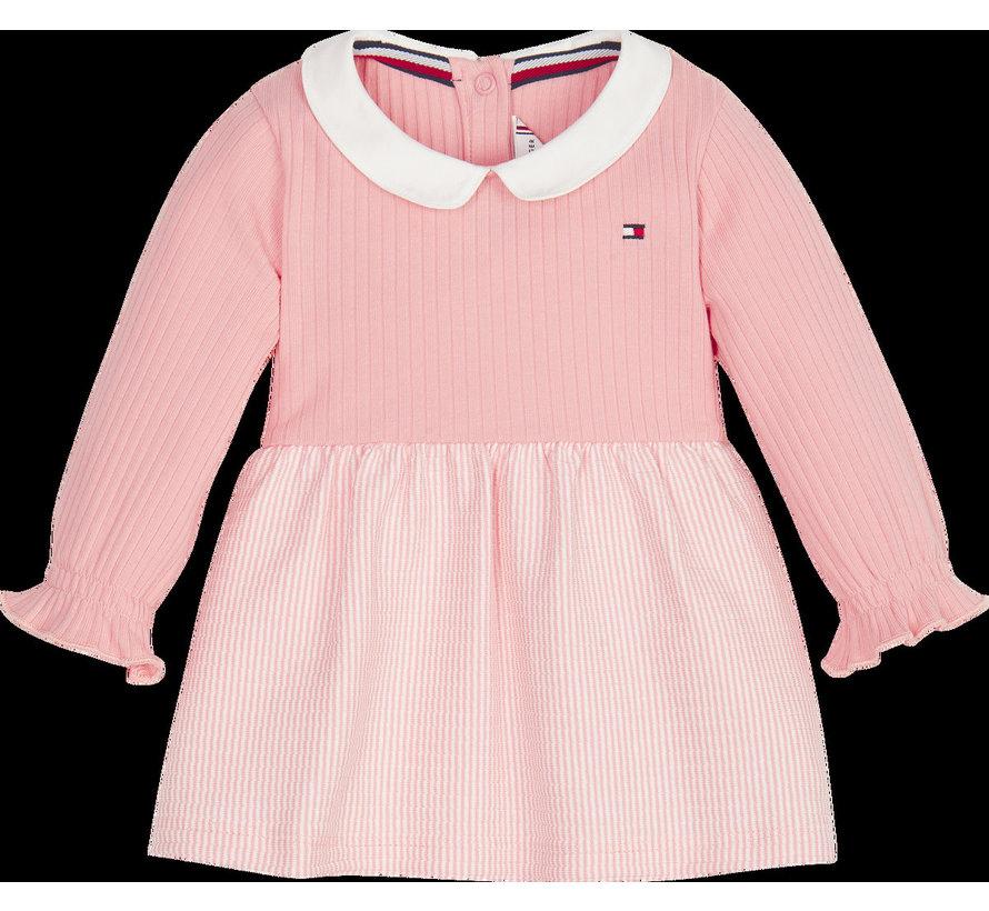 KN01038 baby girl rib dress