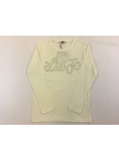 Liu Jo G69119J0088T-shirt M/L logo pearls