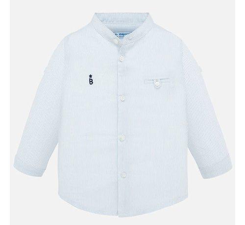 Mayoral 1163 L/s mao collar shirt