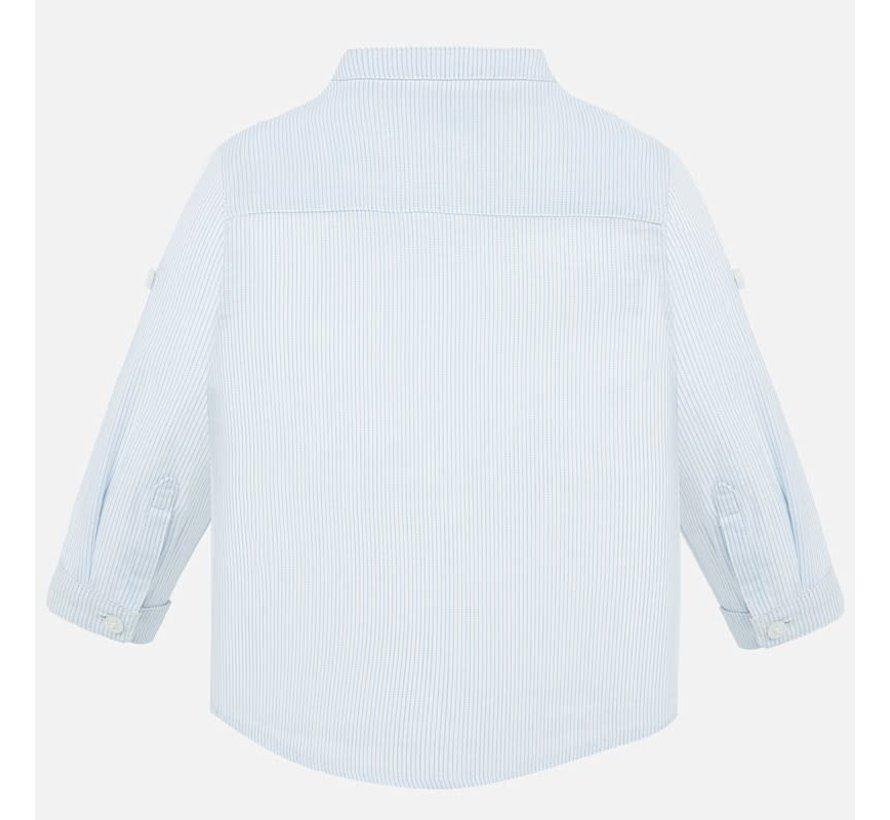 1163 L/s mao collar shirt