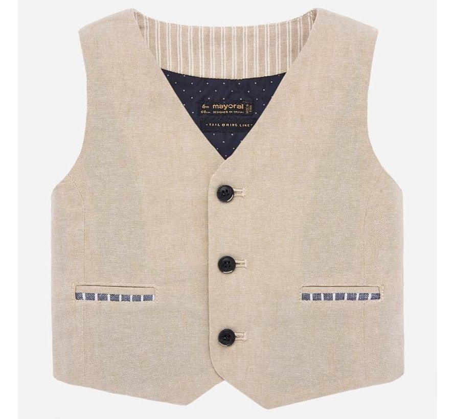 1465 dressy linen vest