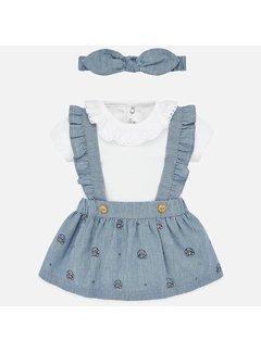 Mayoral 1863 body skirt and diadem set