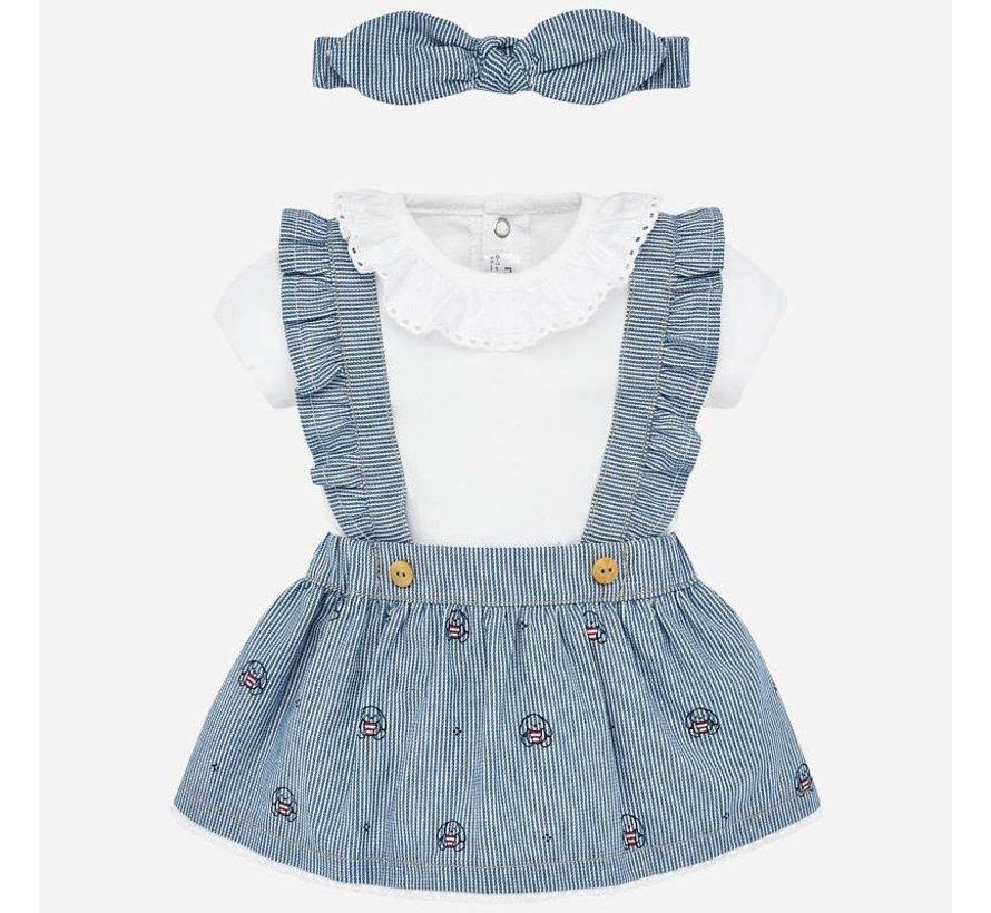 1863 body skirt and diadem set