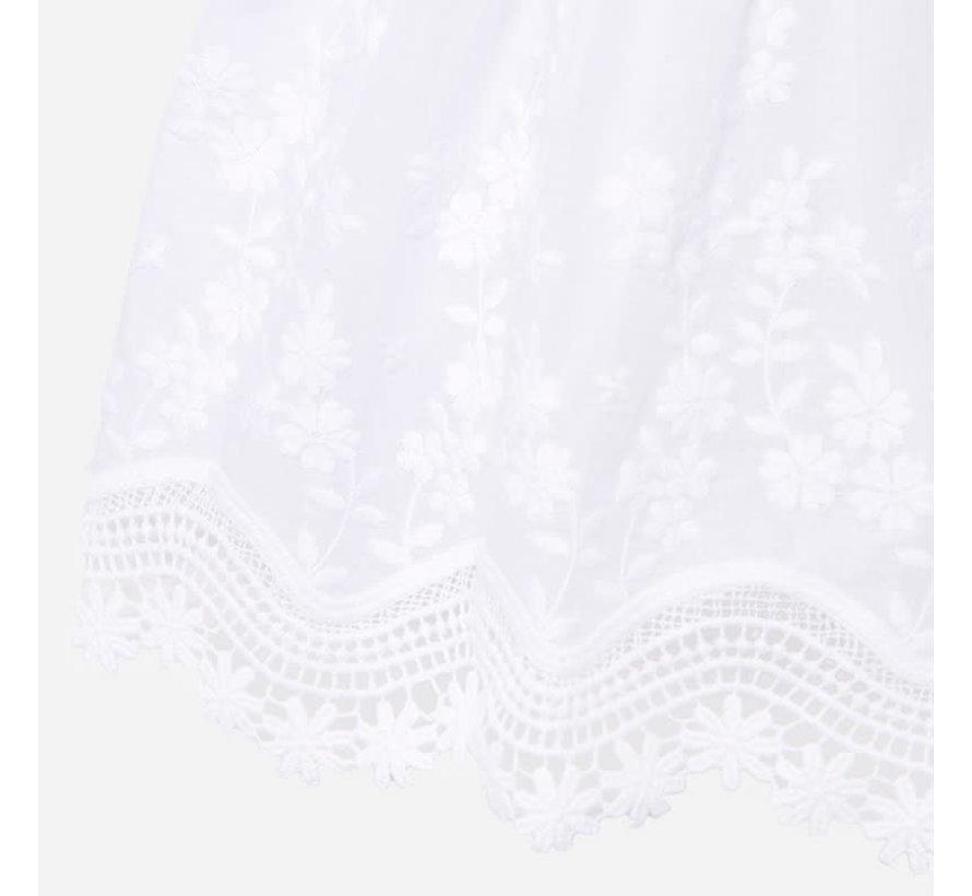 1921 embroided poplin dress