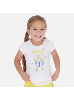 Mayoral 3013 s/s sunflower shirt