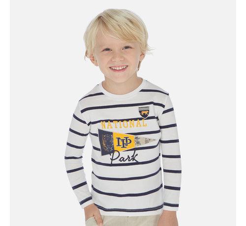Mayoral 3074 L/s stripes t-shirt