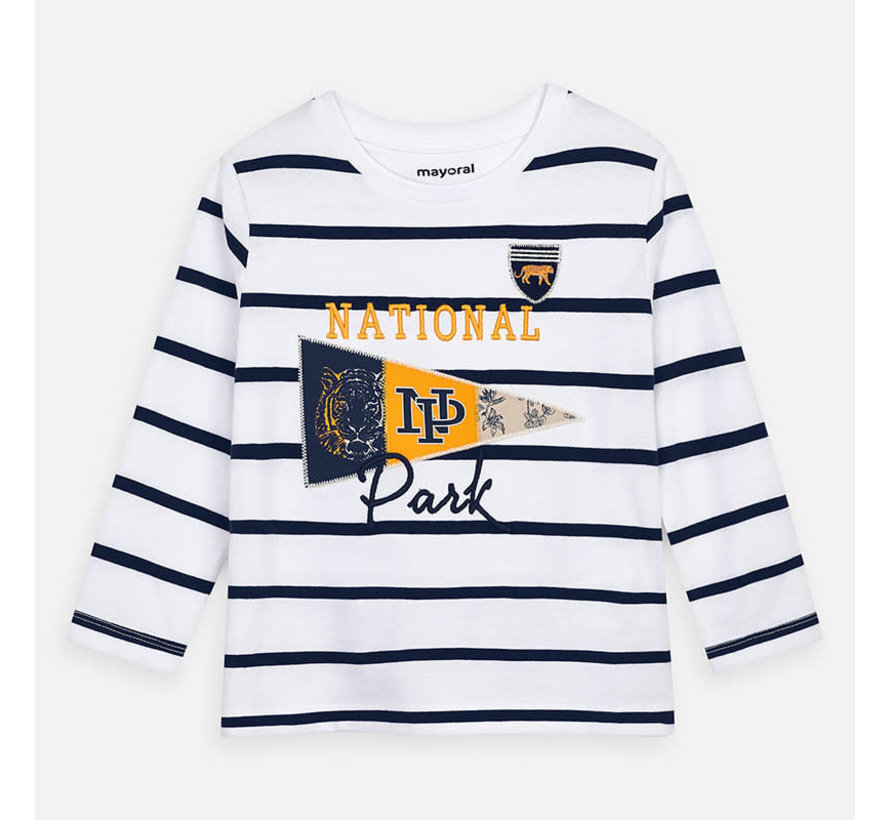 3074 L/s stripes t-shirt