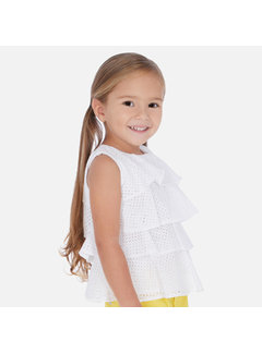 Mayoral 3183 ruffled blouse