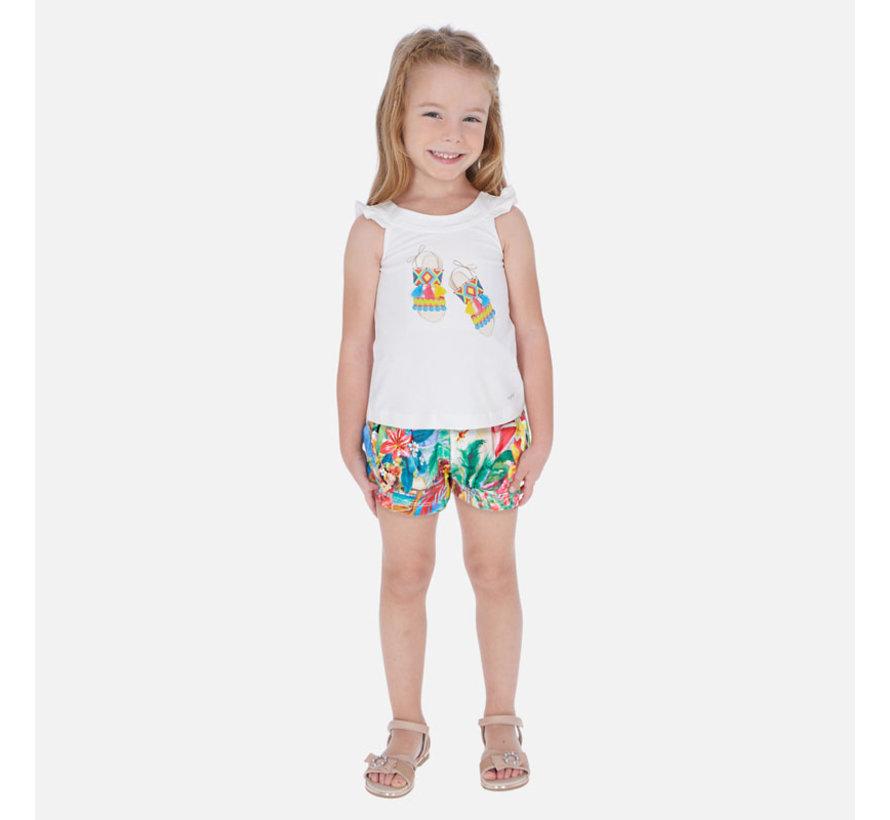 3290 printed shorts set