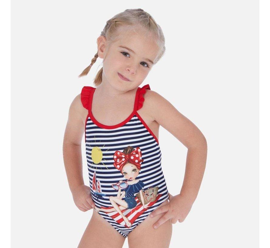 3729 graphic print swimsuit