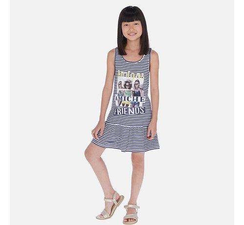 Mayoral 6987 striped dress