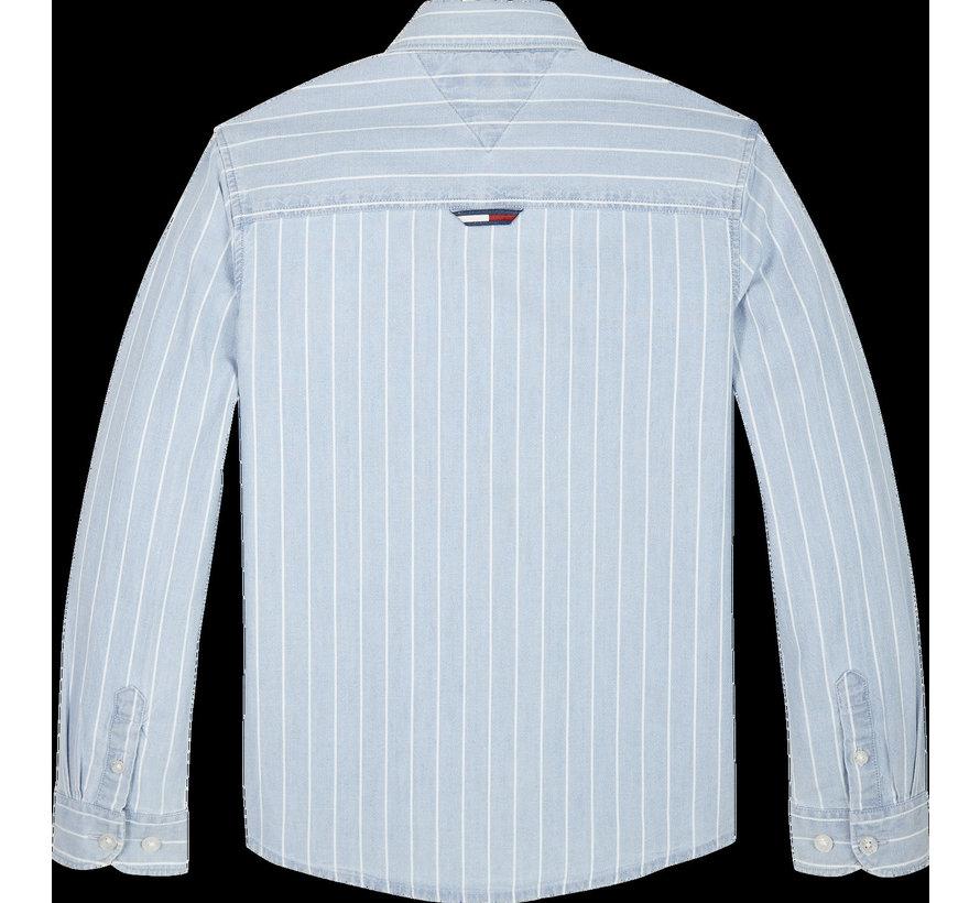 KB05694 Denim stripe shirt l/s