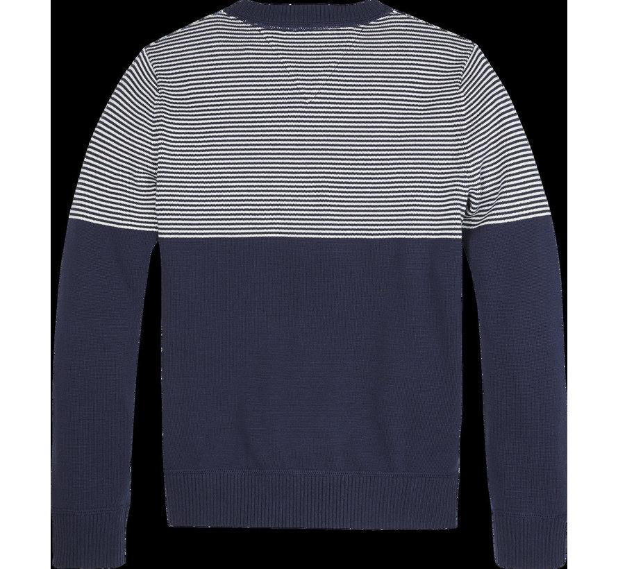 KB05618 TH colourblock sweater