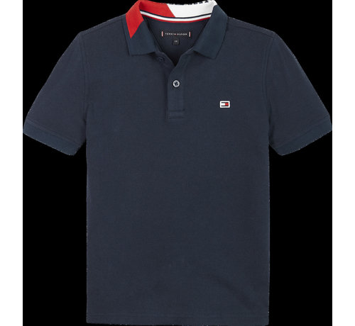 Tommy Hilfiger KB05658 Intarsia collar polo s/s