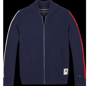 Tommy hilfiger pre KB05407 zip through cable cardigan