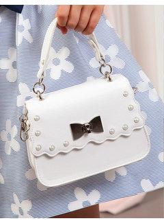 Abel & Lula 5435 pearl leatherette bag