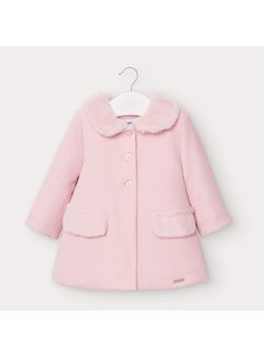 Mayoral 2407 structured knit coat