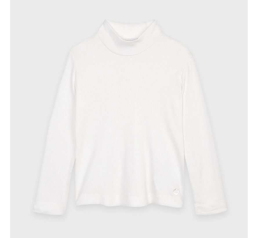136 basic ribbing mockneck sweater